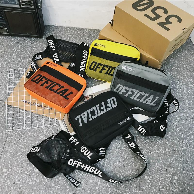 Custom Adjustable Fashion Letter Printing Shoulder Bag Waist Packs Vest Chest Rig Bag Recon Tactical Bag for Men