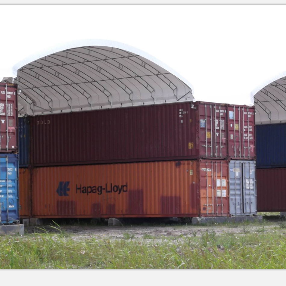 Custom size shipping container shelter from manufacturer
