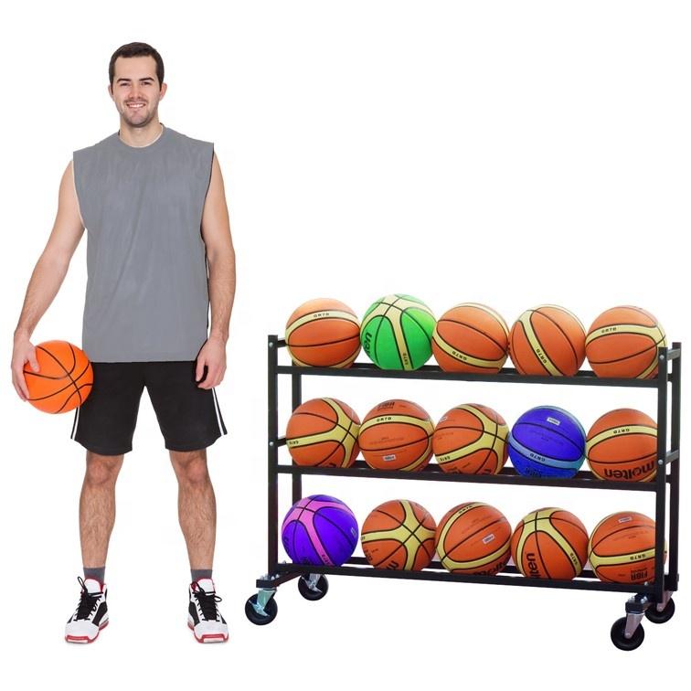 Тележка для баскетбольных мячей 3 уровня 15