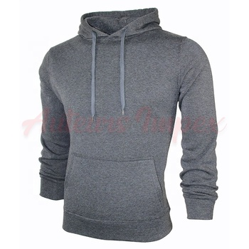 Custom Mens Plain Cotton Hoodie Slim Fit