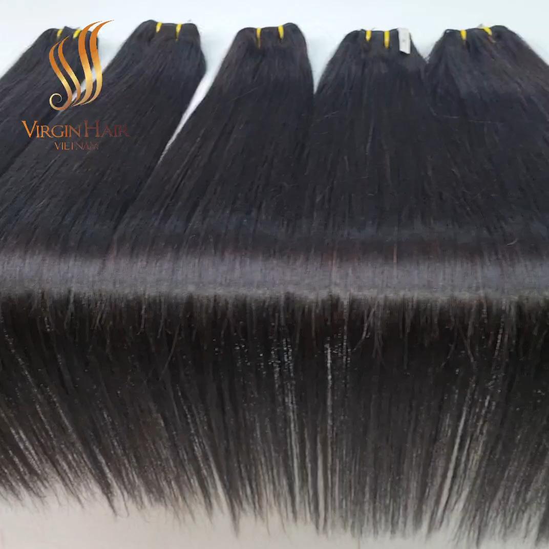 Extensions de cheveux naturels d'alignement, cuticules, mèches de haute qualité, livraison depuis le VIETNAM