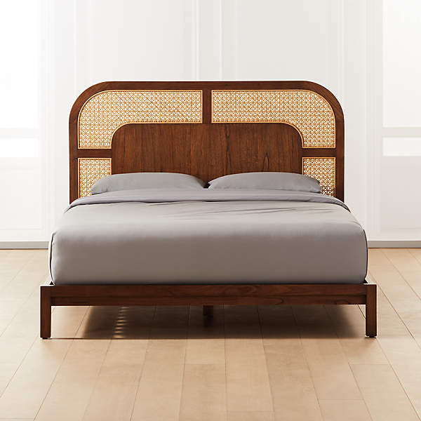 Rattan Cane Wood Bed Room Wall Home Decorative Exclusive Nice Beautiful Small Medium Big Bed