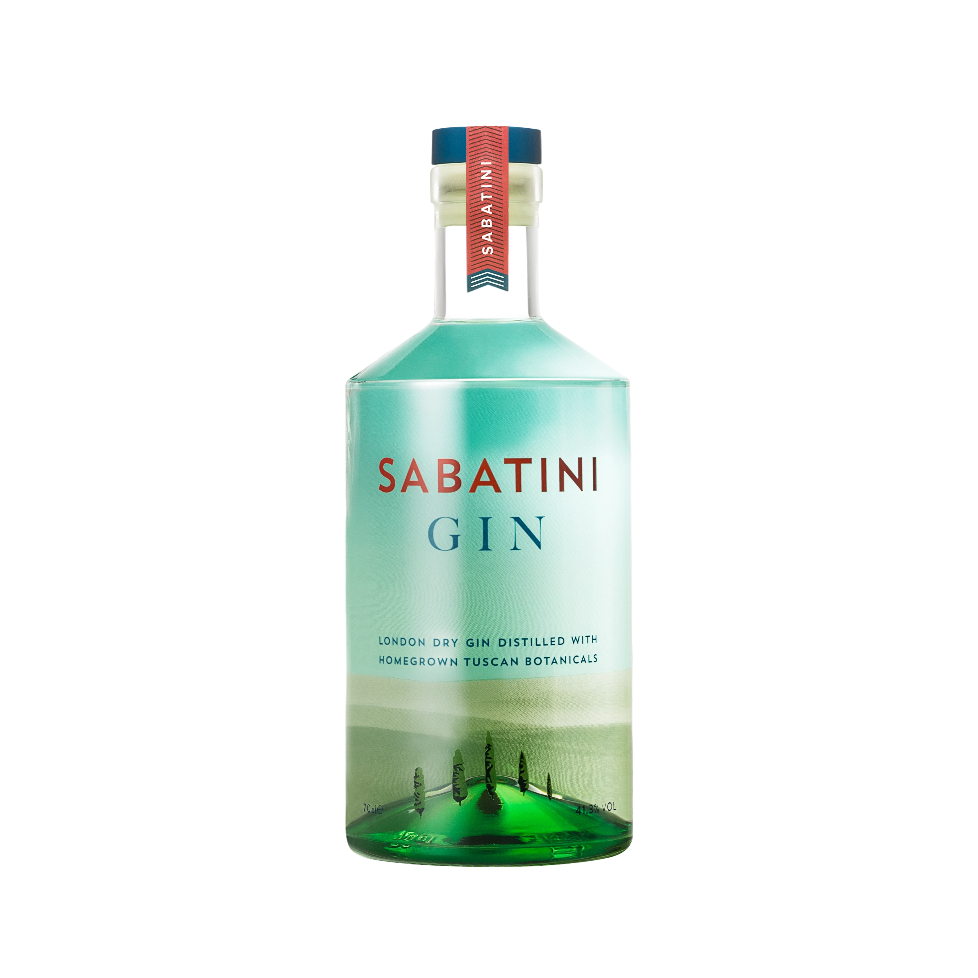 Combo Lampshade Bottle High Quality Sabatini Gin - Sabatini Gin 70 cl - Made in Italy