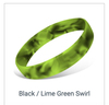 Black Lime Green Swirl