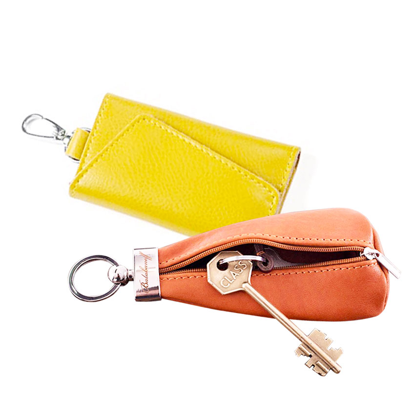 manufacturer promotional faux leather key ring holder