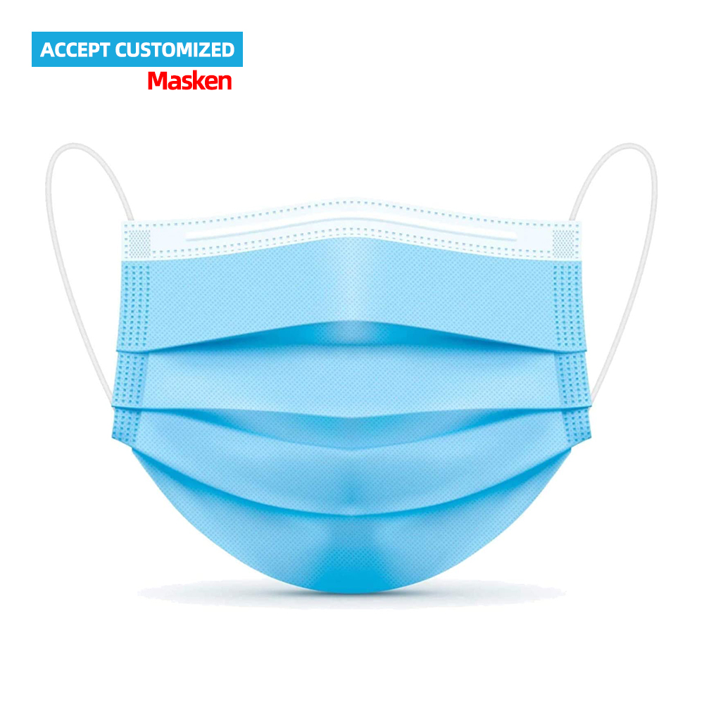 Masken 3ply disposable face mask 3 layer facemask with earloop protective mask 3 ply mundschutz masken - KingCare   KingCare.net