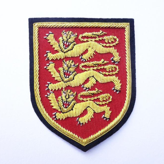 Patch Nation lAngleterre Trois Lions Royal Armoiries Blason Drapeau PVC