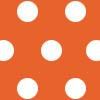 Polka Dot - Orange