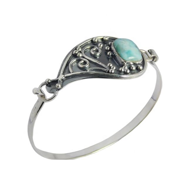 3 Larimar Gemstone Handmade 925 Silver Plated Vintage Jewelry Jewelry Set S