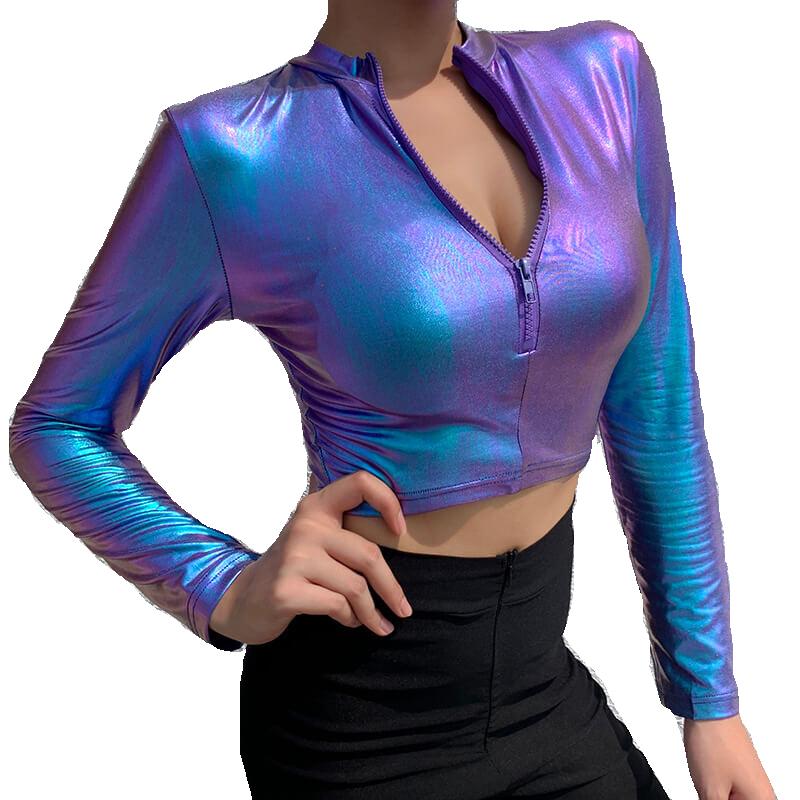 Jacket woman and purple short sleeve blouse  custom
