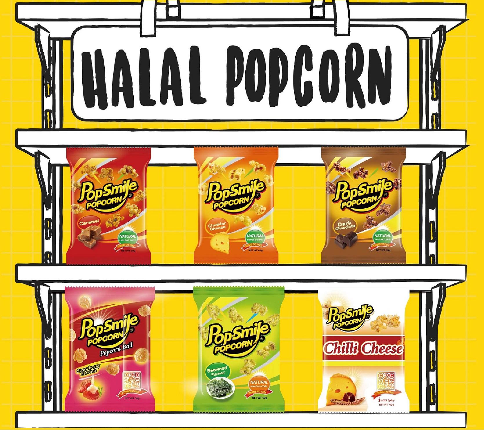 Pop-Smile Popcorn Caramel Flavor 60g Halal Certificate