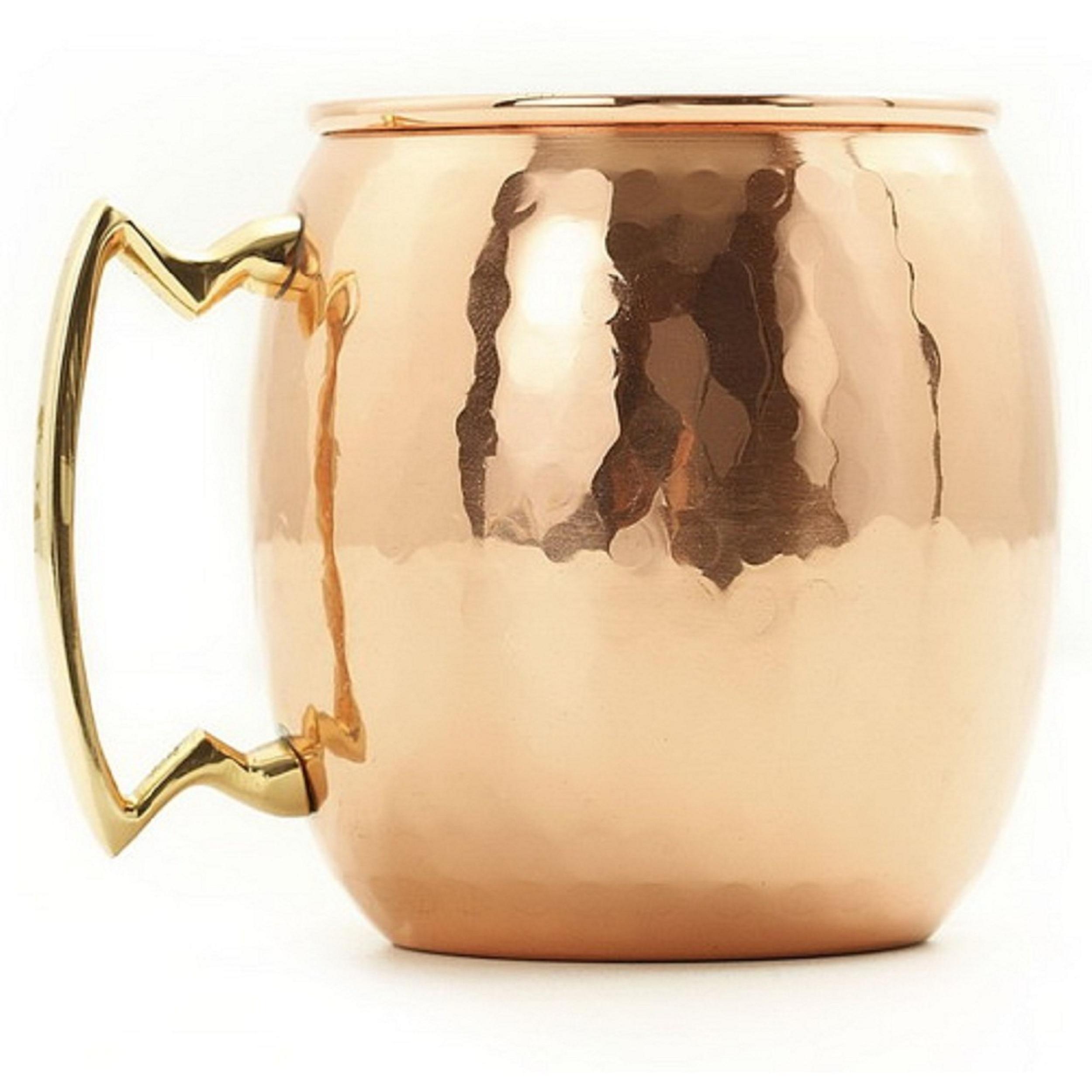 New Set of 4 Moscow Mule Mugs Hammered Copper Brass 16 Ounce oz Mug 500ml Bar