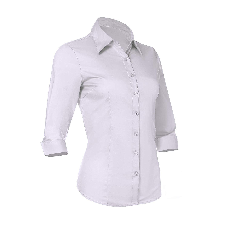 New Design Women Dress Shirts Embroidered Collar Women's Formal Work Wear White Simple Shirt - Buy Shirt Dress White Dress Shirts Women Girls' ...