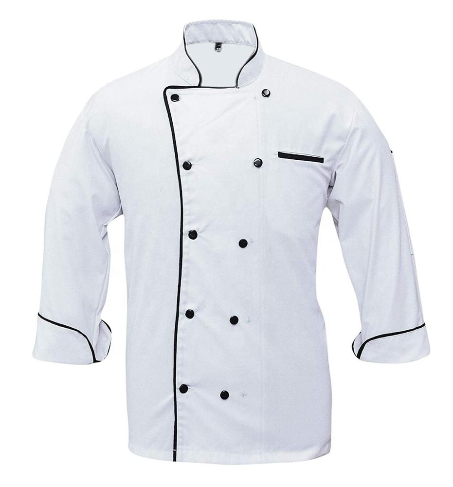 Double Breasted Chef Coats Cook Uniform in Bulk Chef Jackets Restaurant & Bar OEM Service Support Unisex TWILL Poly Cotton