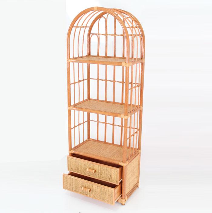 Rack Arch Natural Rattan Bookshelf Bookcase