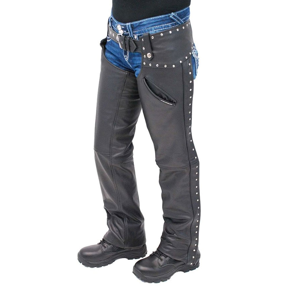 Horse racing leather chaps wholesale leather chaps