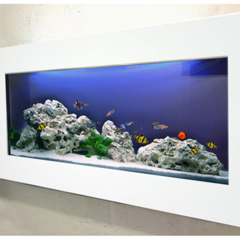 Wall art decoration Brushed White aluminium Frame Wall mounted fish tank