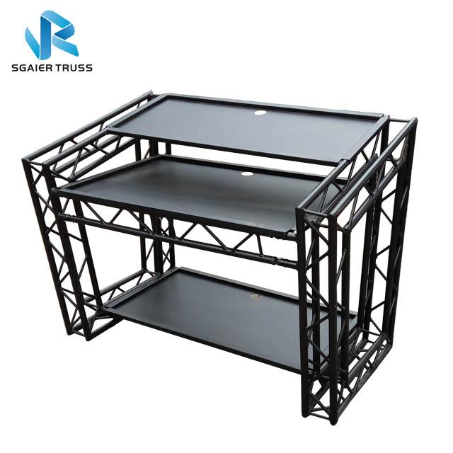 Алюминиевый складной светодиодный диджейский стол/светодиодный диджейский стол