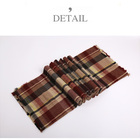 Cape Women's Plaid Blanket Thick Cashmere Feel Winter Scarf Tartan Chunky Wrap Oversized Shawl Cape