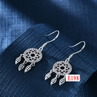 Silver 925 Silver E5 New Classcial Jewelry Simple Style Joyeria Silver 925 White Gold Surface Ear Drops