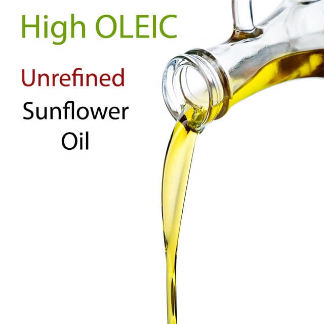 Unrefined Cold Pressed High OLEIC Best Edible Vegetable Sunflower Oil
