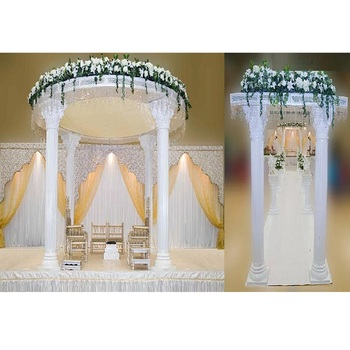White Roman Palace Mandap for Wedding Luxury Wedding Decor Roman White Mandap Elegant Roman Wedding Pillars Mandap NZ