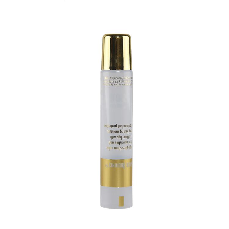 Special Shape Eco Friendly Cream Lipgloss Tube Custom Gold Empty Lip Gloss Soft 10ml 15ml Squeeze Tube