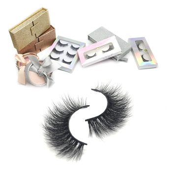 2019 Mink Eyelash 25mm 3D Creat Own Brand Box Packing Custom Private Label Low Price Long Lifetime 3D Mink Eyelashes