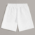 White Color Men Polyester Jogging Running Shorts Polyester Sweat Shorts