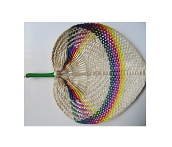 Meifan Womens Multi Color Handmade Cotton Lace Folding Hand Fan