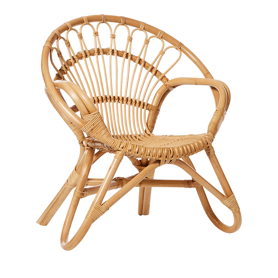 Flower Pea Shaped Rattan Baby Chair