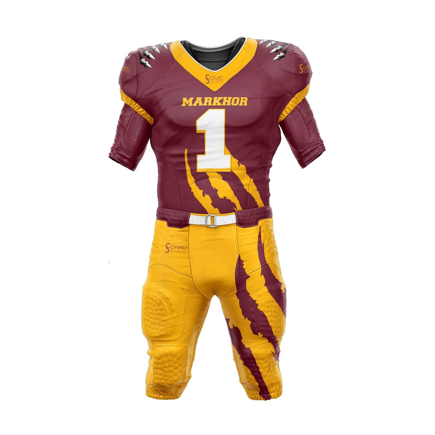 Sublimated American Football Uniforms Custom Wholesale American ...