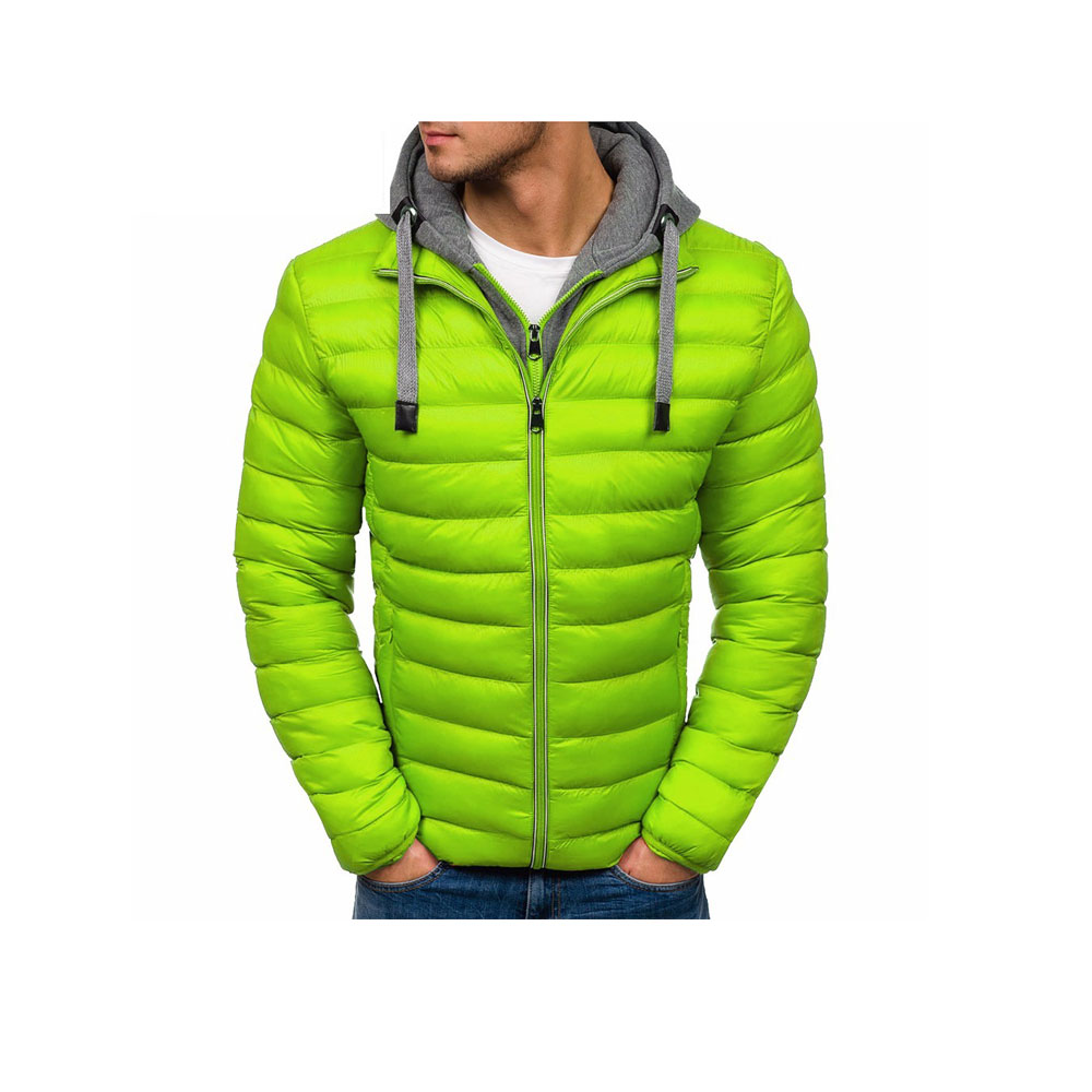 Quilted Jacket Ultralight Outwear Men/'s Puffer Bubble Bomber Parka Padded Coat