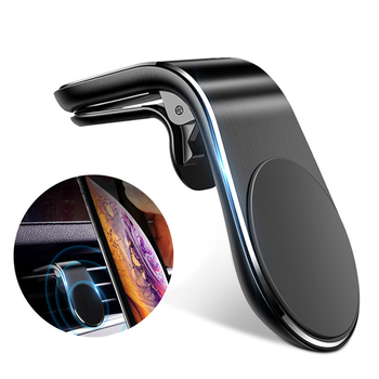 New Arrival Strong Magnetic L Shape Phone Holder Stand Car Air Vent Mount Clip Cellphone Holder