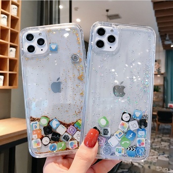 Liquid Glitter Colorful Bling Quicksand for IOS APP for Apple for iPhone 11 Luxury Case for iPhone 12 PRO MAX