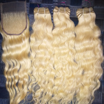Real Indian hair from Indian Temples, human virgin hair extensions, single drawn bulk hair
