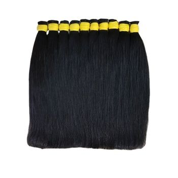 100% Straight Human Braiding Hair Bulk No Weft Full Cuticle Aligned vietnam raw hair