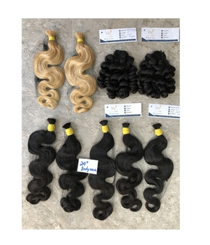 Wholesale Bulk Human Braiding Hair Bulk Virgin Remy Hair Unprocessed Blonde Hair Black Brown Straight