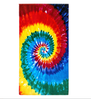 Towels Towel Towels For The Beach Quick Dry Sand Free RPET Plastic Travel Towels For Men 1 Side Printed Tie Dye Rainbow Hippie Colors Microfiber Beach Towel