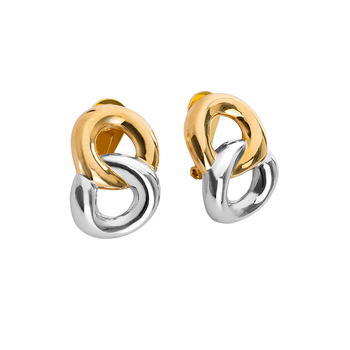 High Quality 925 Silver Sterling Earrings, Rhodium and Gold Plated Earrings, Made in Italy