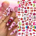 New Red sexy lips design Nail Stickers for Nail Decoration
