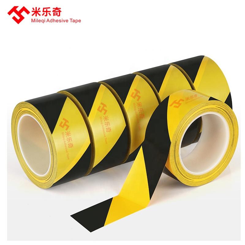 Водонепроницаемый обнаруживаемый желтый и черный ПВХ предупреждение ленты баррикады пол маркировочная лента