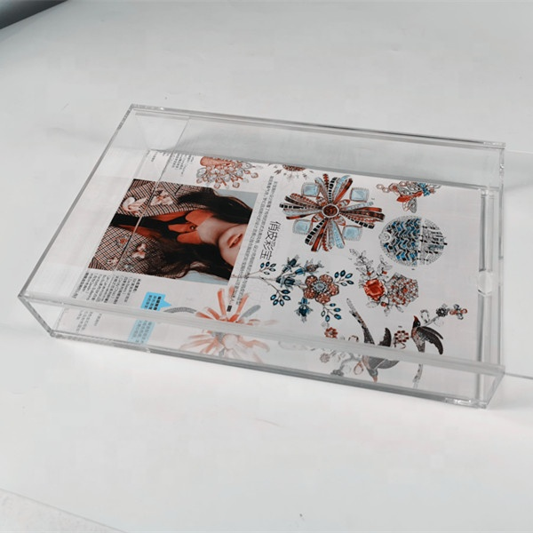 Акриловая рамка для коробки под заказ, акриловый поднос с вставкой