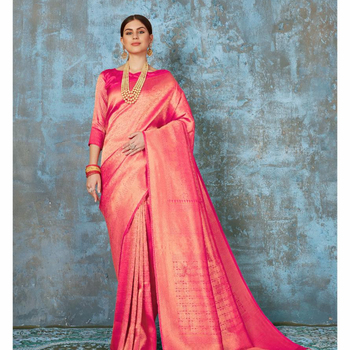 R & D Exports Silk Saree Indian Silk Collection Sari