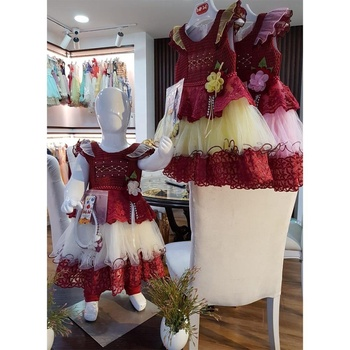 girls party dresses flower weddings dress baby frock designs mehron body frock/baby cotton dress