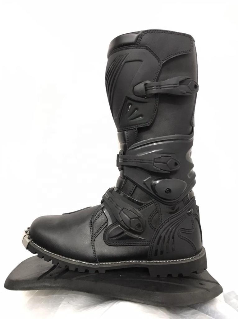 Кожаные байкерские ботинки для мотокросса, Спортивная одежда на заказ, мотоциклетные ботинки