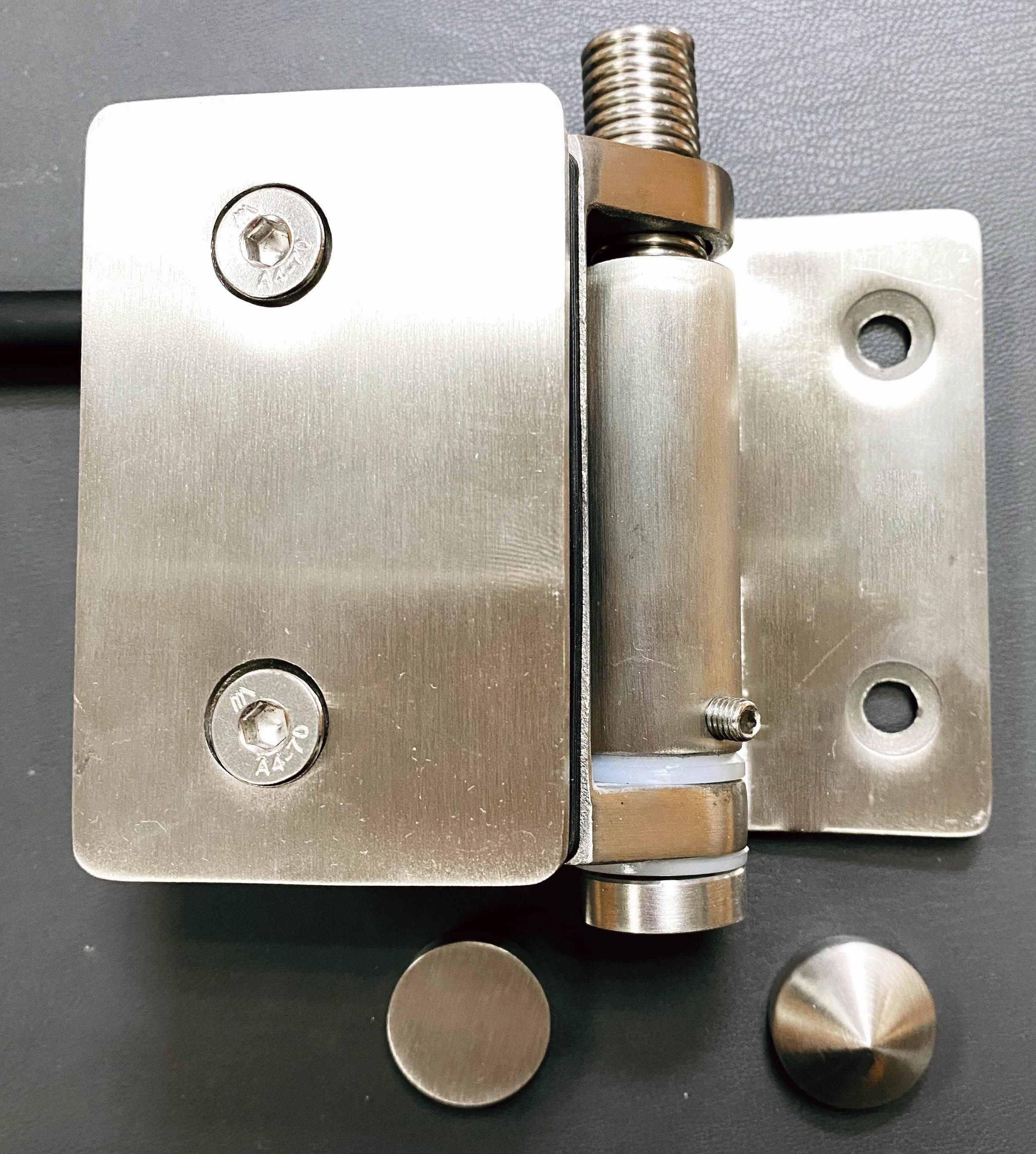 Stainless Steel Close Force adjustable Spring Glass Fence Gate Hinge