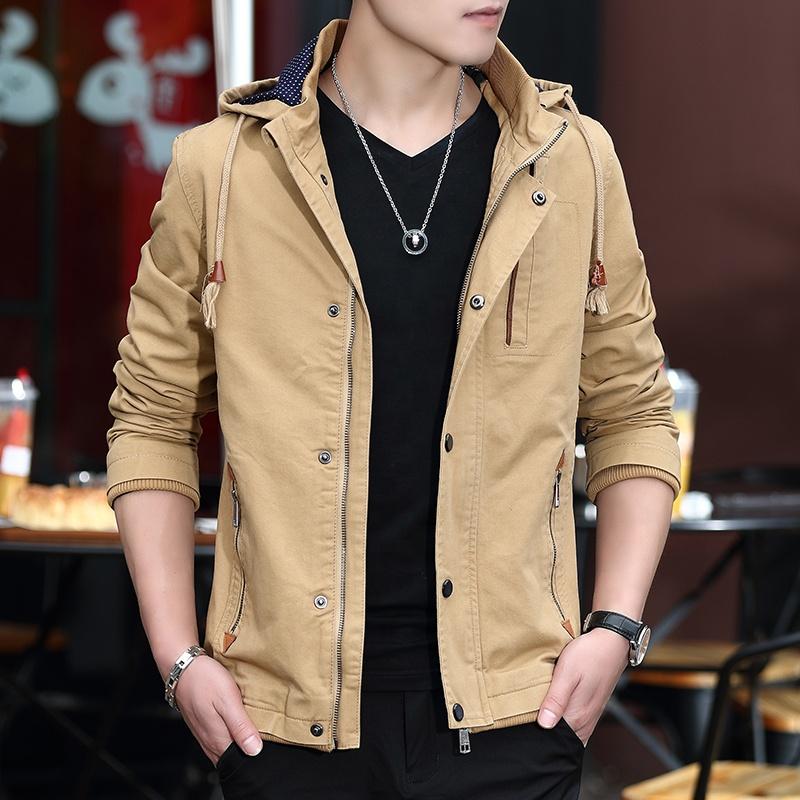 Лидер продаж, приталенная хлопковая куртка-бомбер, мужская куртка на заказ, Высококачественная ветрозащитная куртка болотного цвета с капюшоном