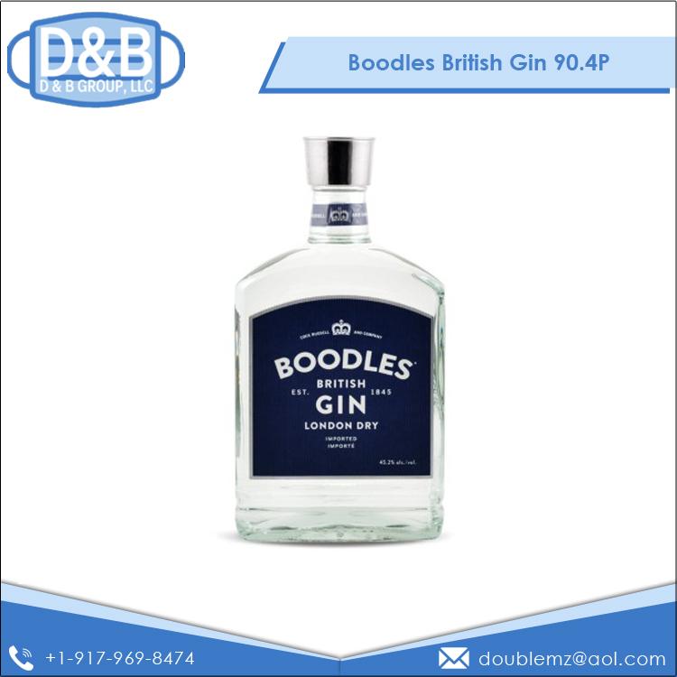 45.2% Dark Taste Original Dry Boodles British Gin at Bulk